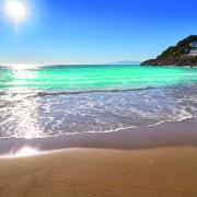 Cala Crancs Salou beach in Tarragona of Catalonia